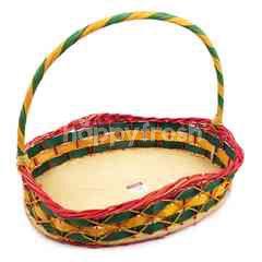 Large Wavy Rattan Basket