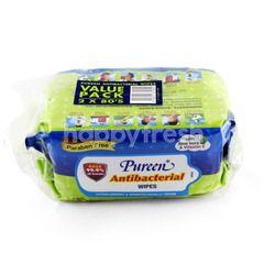 Pureen Value Pack Antibacterial Wipes 2 x 80's