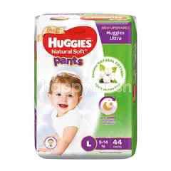 Huggies Pants Natural Soft Super Jumbo Diapers L44