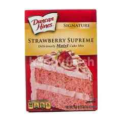 Duncan Hines Strawberry Supreme Premix