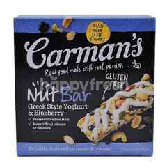 Carman's Greek Style Yoghurt & Blueberry Nut Bar (5 Bars)