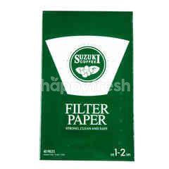 ซูซูกิ กระดาษกรองใช้สำรับกรองกาแฟ สำหรับ 1-2 แก้ว
