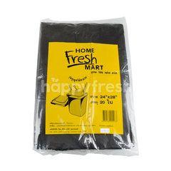 โฮม เฟรช มาร์ท ถุงขยะดำมีหูผูก 24 X 28 นิ้ว