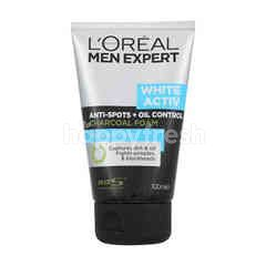 L'Oreal Men Expert White Activ Anti-spots + Oil Control Charcoal Foam