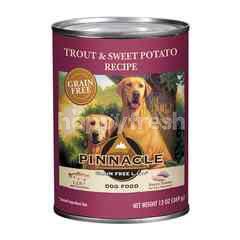 พินนาเคิล อาหารสุนัขแบบเปียกสำหรับสุนัขทุกวัย  สูตรปลาเทราท์และมันฝรั่ง A01-038-35(O/R)