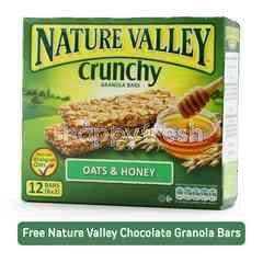 NATURAL VALLEY Crunchy Oats & Honey Granola Bars (12 Bars)