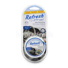 Refresh Your Car Extra Value Odor Eliminated Scented Gel (New Car Scent)