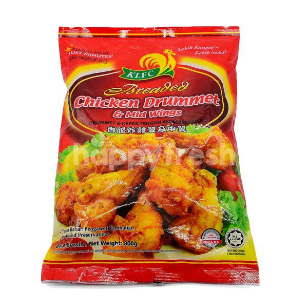 KLFC Breaded Chicken Drummet & Mid Wings | Kuala Lumpur | HappyFresh