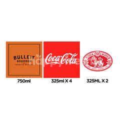 สินค้าขายยกเซ็ต บูลเลท เบอร์เบิ้ล ฟรอนเทีย วิสกี้ & โคคา-โคลา โค้ก น้ำอัดลม 4 กระป๋อง & สิงห์ น้ำโซดา 2 กระป๋อง
