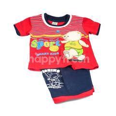 Shin Jin Baju Plus Celana Anak-Anak Beruang Slam Dunk (Tersedia Ukuran: S, M, L)