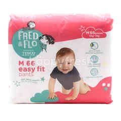 Tesco Fred & Flo Disposable Diaper Pants M (66 Pieces)