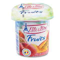 Elle & Vire Yogurt Peach & Passion Fruit Flavour