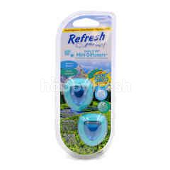 Refresh Your Car Dual Scent (Summer Breeze & Alphine Meadow) Mini Diffusers
