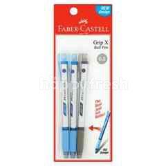Faber Castle Grip X 0.5 Ball Pen (3 Pieces)