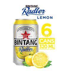 Bintang Radler Bir Rasa Lemon Kaleng 6 Packs