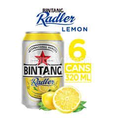 Bintang Radler Lemon Canned Beer 6 Packs