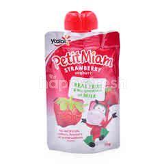 Yoplait Petit Miam Strawberry  Flavoured Yogurt