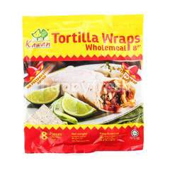 Kawan Tortilla Wholemeal Wraps 8""