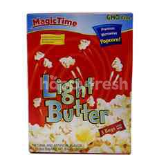 Magic Time Light Butter Premium Microwave Popcorn (3 Bags)