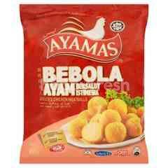 Ayamas Frozen Breaded Chicken Meatballs