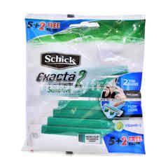 Schick Exacta 2 Sensitive Shaving Razor (7Pieces)