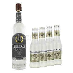 Beluga Gold Line 700ml + 2 x Fever Tree Ginger Beer