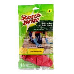 Scotch-Brite Heavy Duty Outdoor Glove Extra Strength Reinforced Fingertip ( 1 Pair)