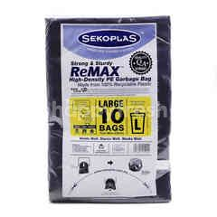 Sekoplas High Density Garbage Bag Size L (10 Pieces)