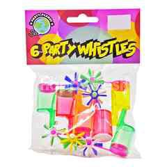 Party Planet Party Whistles (6 Pieces)
