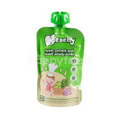 Peachy Baby Food Apple Spinach & Sweet Potato