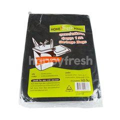 โฮม เฟรช มาร์ท ถุงขยะดำชนิดหนามีหูผูก 36 X 45 นิ้ว