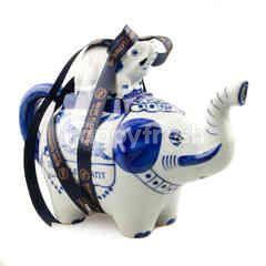 Blue Elephant Elephant Tea Pot