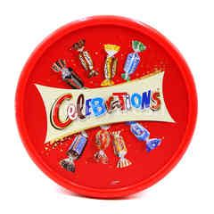 Celebration An Assortment Of Milk Chocolate And A Milk Chocolate Covered Biscuits