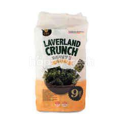 Manjun Laverland Crunch Rumput Laut Rasa Garam Laut