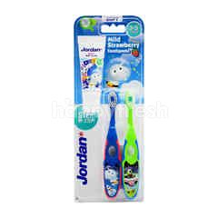 Jordans Step By Step Kids Soft Tooth Brush (2 Pieces)