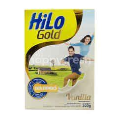 HiLo Gold Susu Bubuk Tinggi Kalsium Kurang Lemak Rasa Vanila 51+ Tahun
