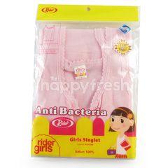 Rider Girls Singlet Size L Pink