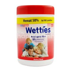 Mitu Wetties Antiseptic Plus Fresh Clean Wet Wipes (90 sheets)
