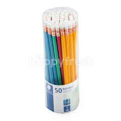 สเต็ดเล่อร์ ดินสอ คละสี เอชบี 50 แท่ง