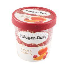 ฮาเก้น-ดาส ไอศกรีมผสมนมรสมะม่วงและราพ์เบอร์รี่