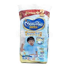 MamyPoko Pants Extra Soft Baby Boy Diapers Size XL