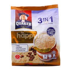 Quaker 3 In 1 Oat Cereal Drink Mocha Flavour (12 Pieces)