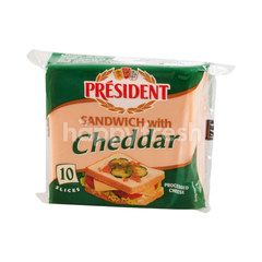 President Processed Cheese Sanwich With Cheddar