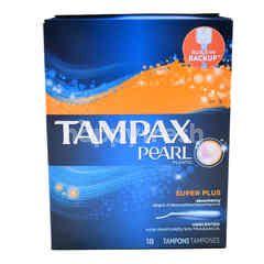 Tampax Pearl Super Plus Plastic Tampons ( 18 Tampones )