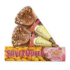 Wall's Cornetto Silver Queen Ice Cream and Silver Queen Almond Milk Chocolate Package