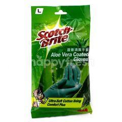 Scotch-Brite Aloe Vera Coated Gloves L