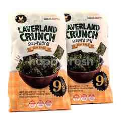 Manjun Laverland Crunch Sea Salt Flavor Seaweed Twinpack