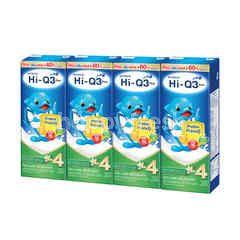 ไฮ-คิว 1 พลัส ยูเอชที พรีไบโอโพรเทก สูตรไขมันต่ำ รสวานิลลา 180 มล. (แพ็ค 4)