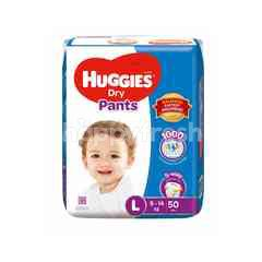 Huggies Dry Pants Super Value Pack Diapers L50+2s