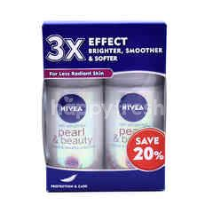 Nivea Anti-Perspirant Pearl & Beauty Roll-On Deodorant (2 Bottles)